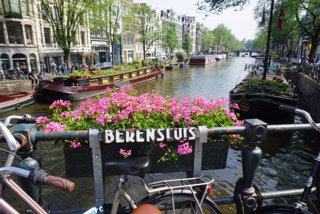 Amsterdam bridge over a canal