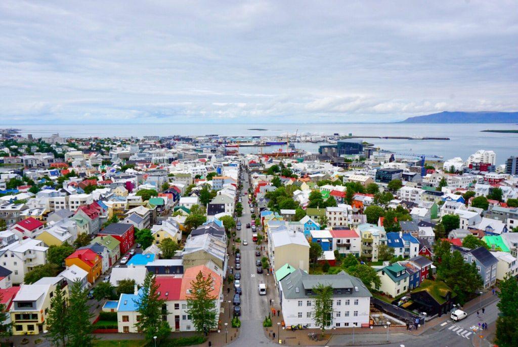 View from the top of Hallgrímskirkja church in Reykjavik