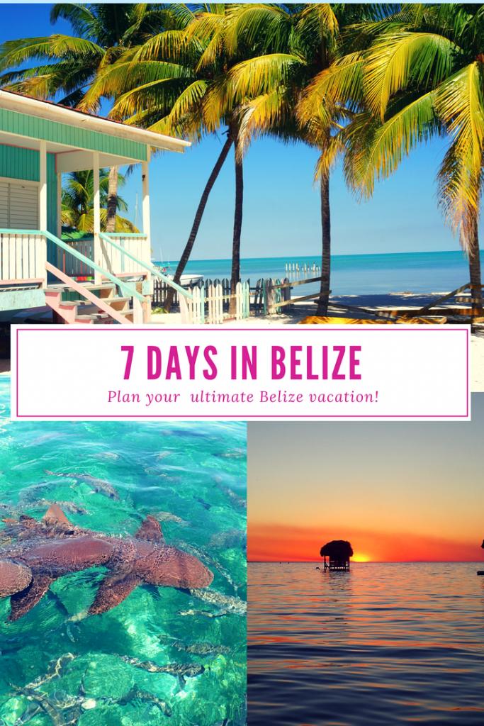 Plan your perfect 7 day Belize itinerary! #belize #travelbelize #sanignacio #cayecaulker