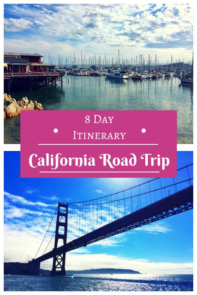 Plan the perfect 8 day Pacific Coast Highway road trip itinerary! Discover the wonders of San Francisco down to San Diego! #california #roadtrip #PCH #pacificcoasthighway #sanfrancisco #napa #carmelbythesea #bigsur #bixbybridge #mcwayfalls #morrobay #solvang #venicebeach #sandiego #lajolla