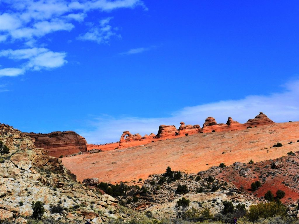 Delicate Arch in Moab, Utah from a distance (with no hiking) - Arches National Park