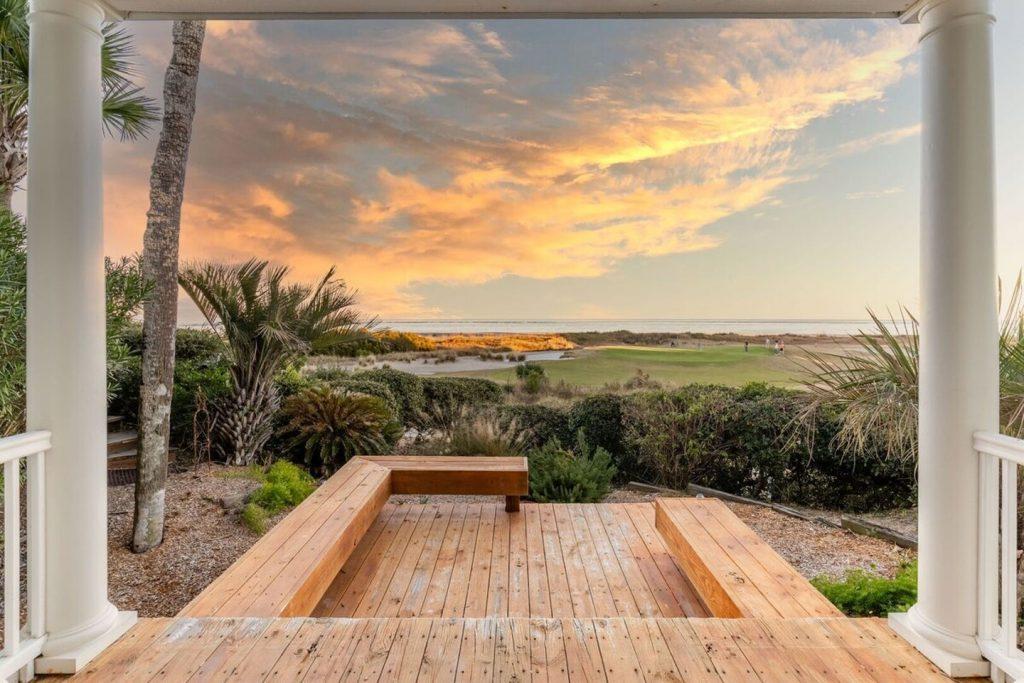 Isle of Palms House outside of Charleston, SC - view of a vibrant sunrise