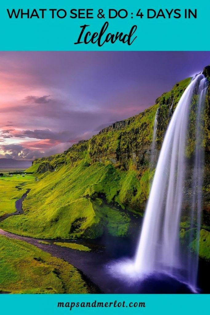 4 Day Itinerary in Iceland - see highlights of the Golden Circle, South Shore, Reykjavik, and the Blue Lagoon