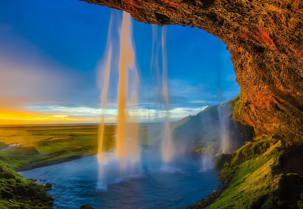 Iceland Seljalandsfoss waterfall on Iceland's South Coast