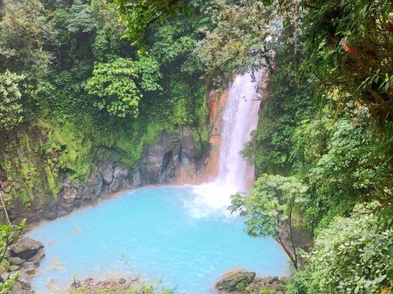 Rio Celeste Costa Rica waterfall