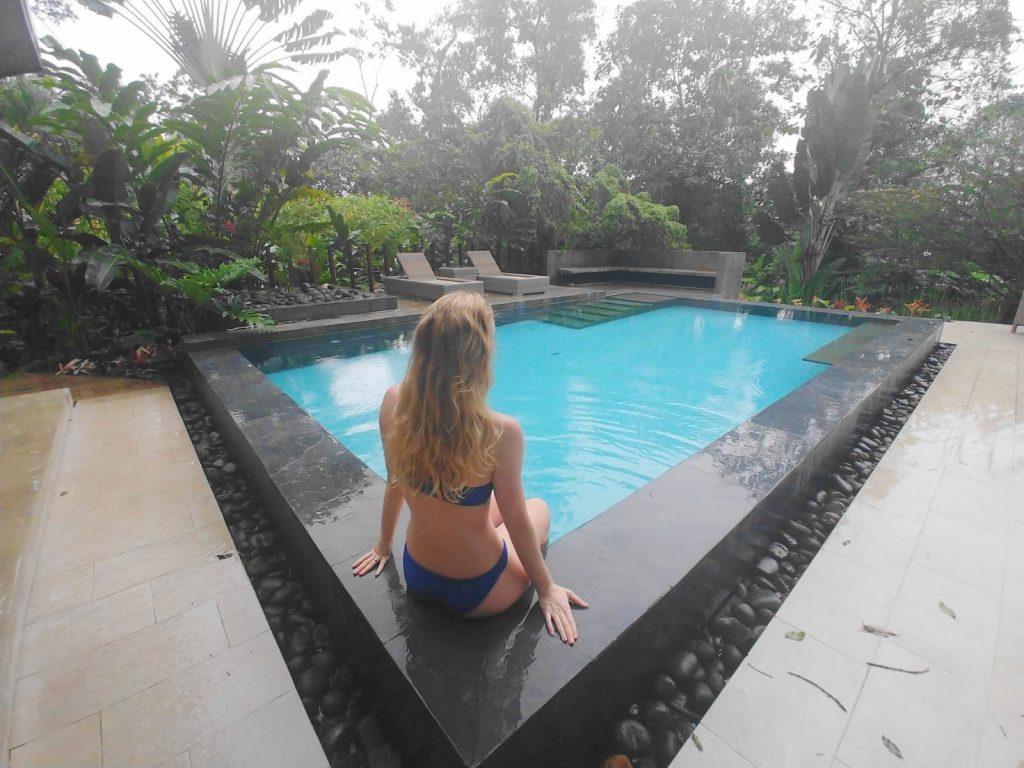 Tifikara Resort Hotel pool in La Fortuna, Costa Rica