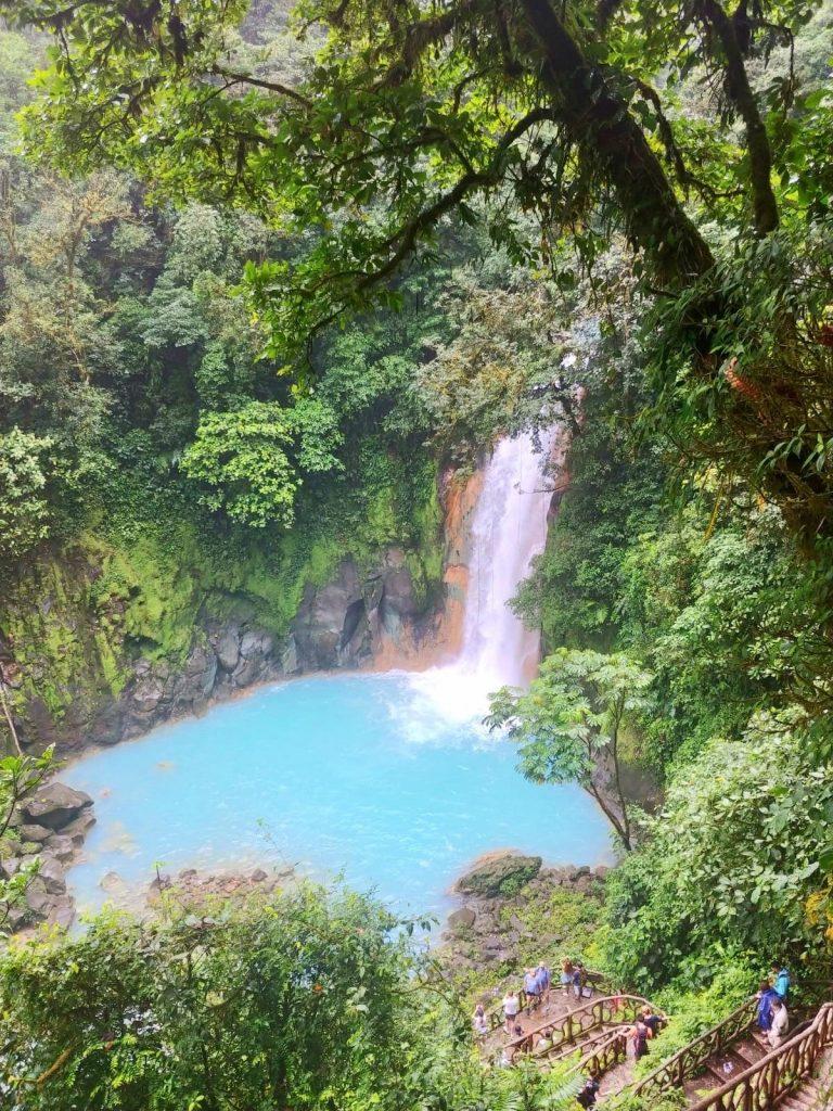 pathway down to Rio Celeste Waterfall in Tenorio Volcano National Park